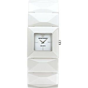 Emporio ⚜️Armani White Ceramic Watch Square Quartz